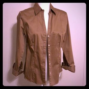 Camel color banana republic fitted blouse size M